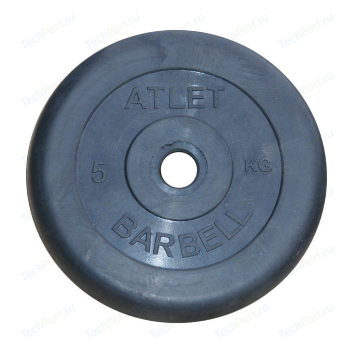 Диск обрезиненный Atlet 31 мм. 5 кг. черный