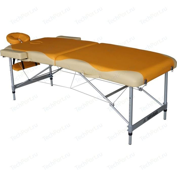 Массажный стол DFC Nirvana elegant premium, 192х75х6 cm, (алюминиевые ножки, оранжево-белый)