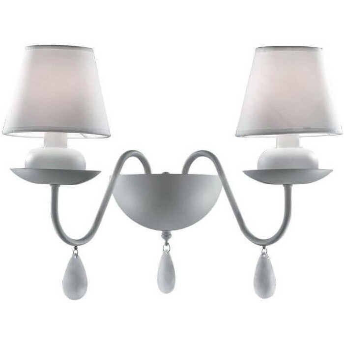 Бра Ideal Lux Blanche AP2 Bianco бра ideal lux moris ap2 bianco