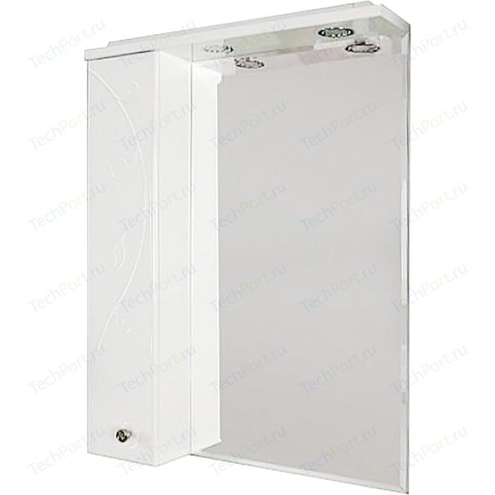 Фото - Зеркало-шкаф Акватон Лиана 65 шкафчик слева, белый (1A166202LL01L) зеркало 60х85 см акватон лиана 1a162602ll010