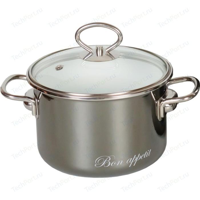 Фото - Кастрюля эмалированная 1.5 л Vitross Bon Appetit (8SB165S мокрый асфальт) чайник со свистком bon appetit 2л мокрый асфальт