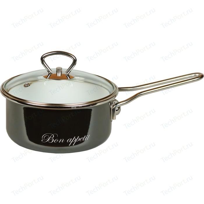 Фото - Ковш эмалированный с крышкой 1.5 л Vitross Bon Appetit (8SB168S мокрый асфальт) чайник со свистком bon appetit 2л мокрый асфальт