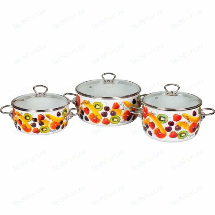 Набор кастрюль 3 предмета Vitross Fruits (1DA035S)
