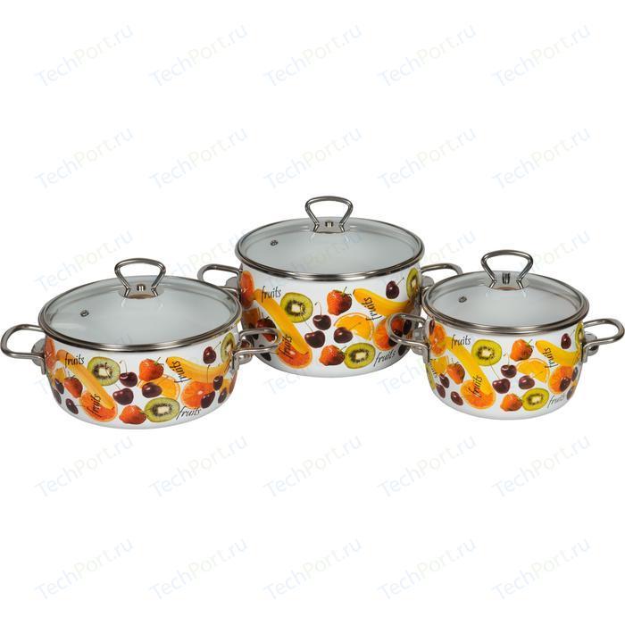 Набор кастрюль 3 предмета Vitross Fruits №13 (1DA135S)