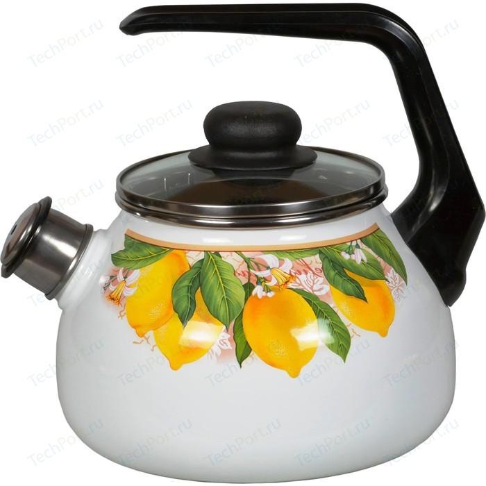 Чайник эмалированный со свистком 2.0 л Vitross Limon (1RA12)