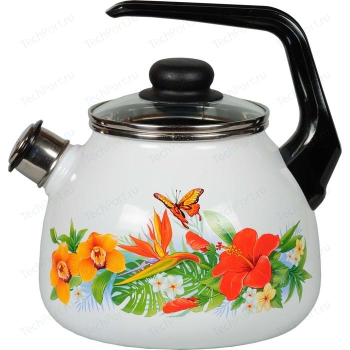 Чайник эмалированный со свистком 3.0 л Vitross Tropicana (1RC12)