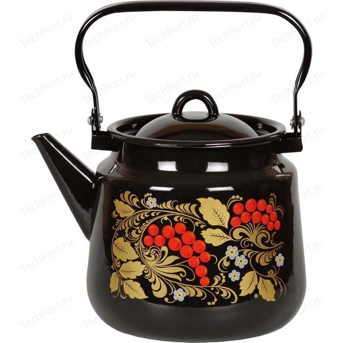 Чайник эмалированный 3.5 л СтальЭмаль Рябина (1с26я)