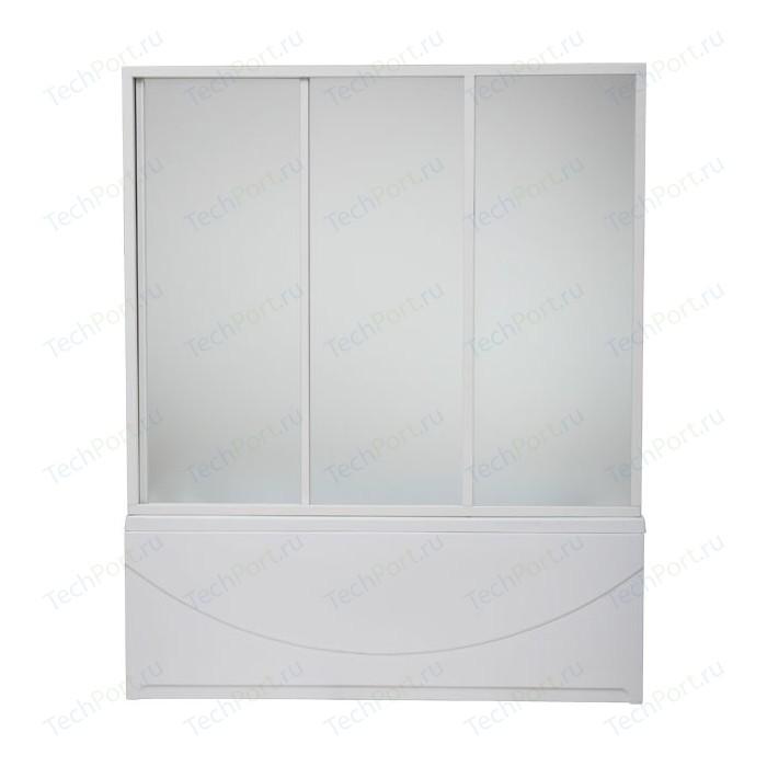 Шторка на ванну BAS Тесса 140 стекло Грейп (ШТ00042)