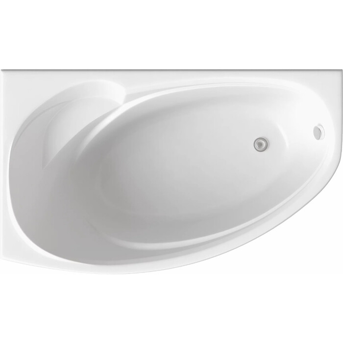 Акриловая ванна BAS Фэнтази 150х90 левая, с каркасом, без гидромассажа (В 00040)