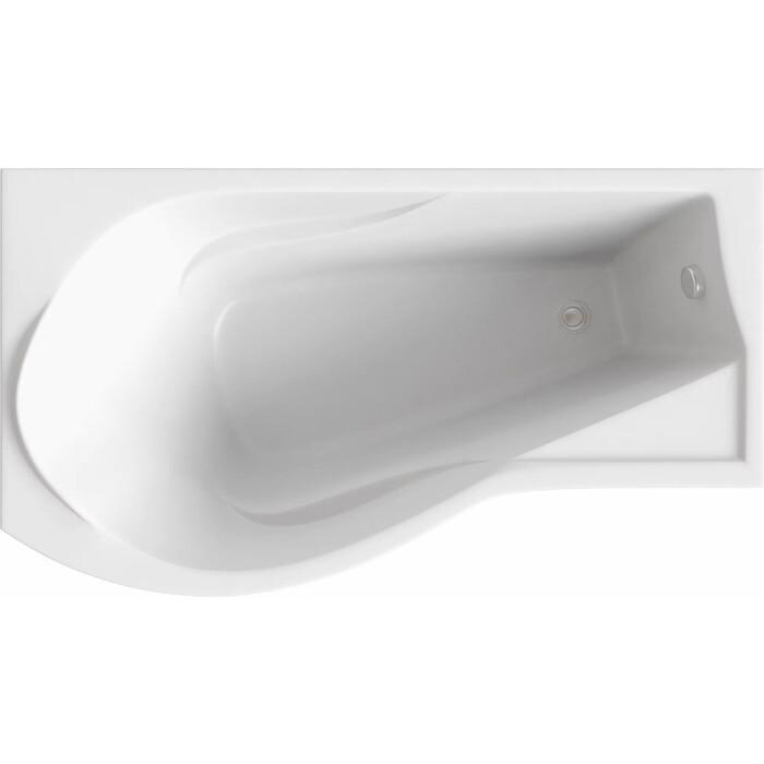 Акриловая ванна BAS Капри 170х95 левая, с каркасом, без гидромассажа (В 00015)