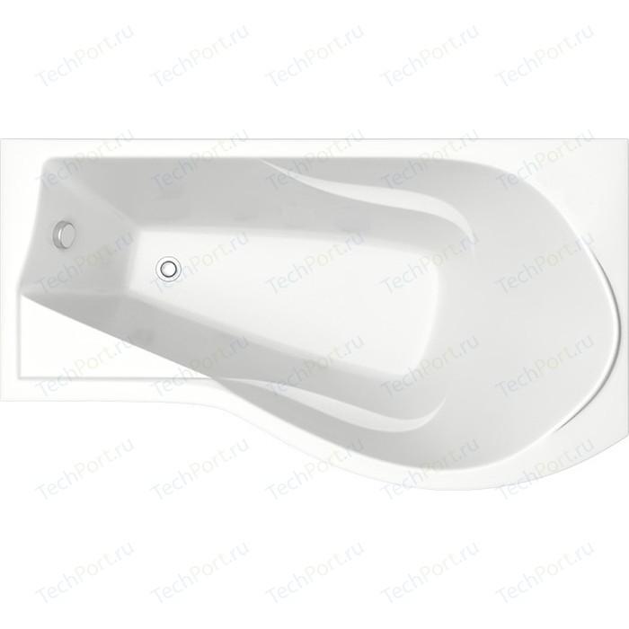 Акриловая ванна BAS Капри правая 170х94,5 с каркасом, без гидромассажа (В 00016)