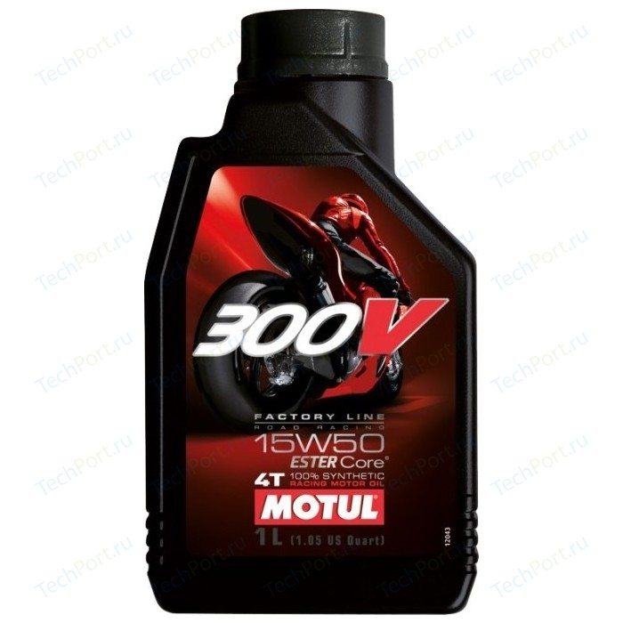 Моторное масло MOTUL 300V 4T FL Road Racing 15W-50 1 л