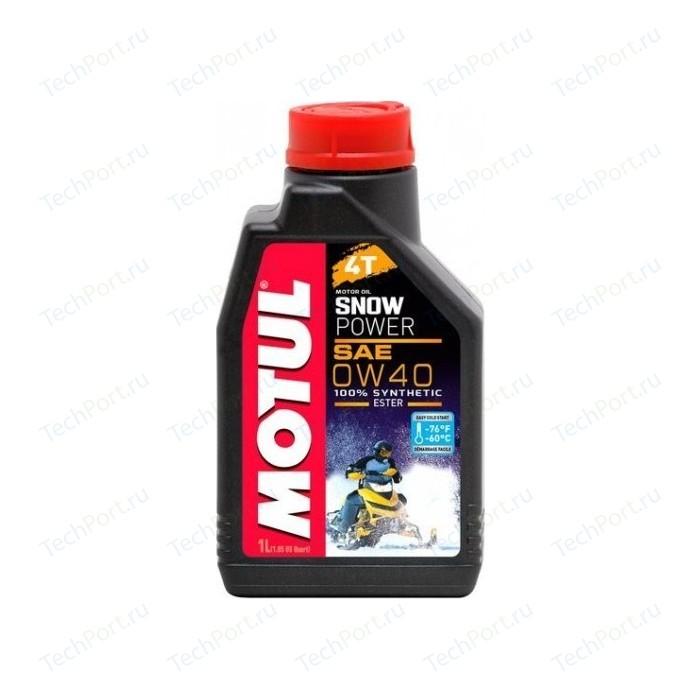 Моторное масло MOTUL Snowpower 4T 0W-40 1 л