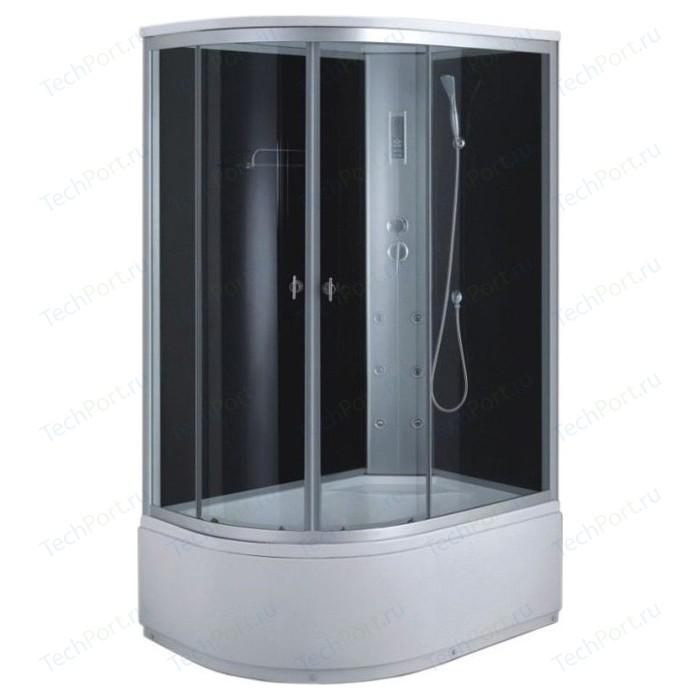 Душевая кабина Aqualux MODO-120 матовое стекло, заднее стекло темное (AQ-4072GFR-Bl)