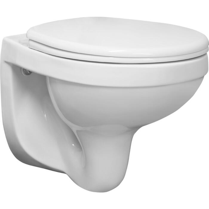 Унитаз подвесной Santeri Альфа Стандарт с сиденьем, белый (1.3255.9.S00.00B.0)