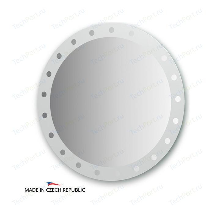 Зеркало FBS Artistica D80 см, с орнаментом - жемчуг (CZ 0715)