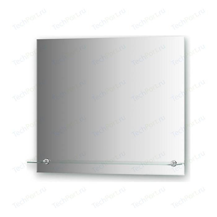 Зеркало Evoform Attractive 70х60 см, с фацетом 5 мм и полочкой 70 см (BY 0515)