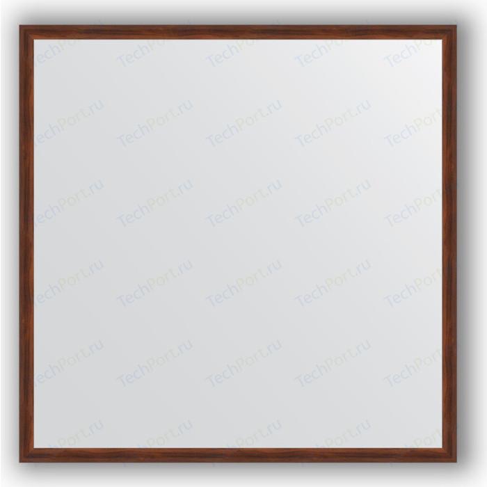 цены Зеркало в багетной раме Evoform Definite 58x58 см, орех 22 мм (BY 0603)