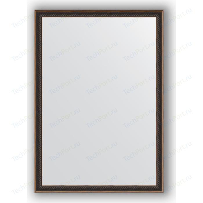 Зеркало в багетной раме поворотное Evoform Definite 48x68 см, витой махагон 28 мм (BY 0624)