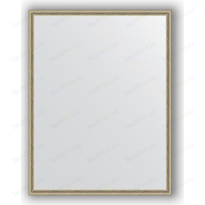 Зеркало в багетной раме поворотное Evoform Definite 68x88 см, витое серебро 28 мм (BY 0674)