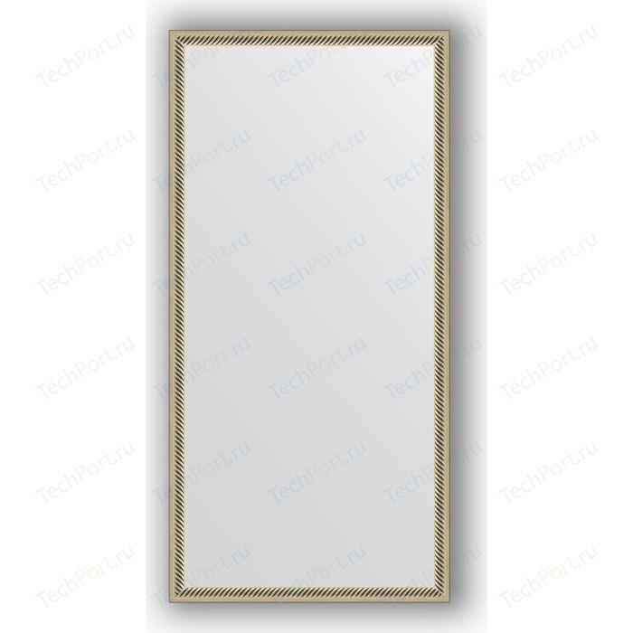Зеркало в багетной раме поворотное Evoform Definite 48x98 см, витое серебро 28 мм (BY 0691)