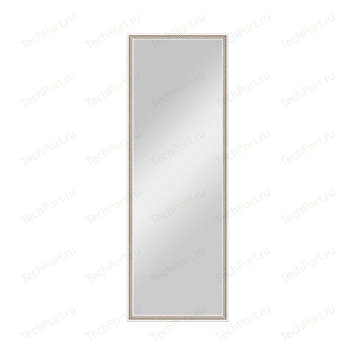Зеркало в багетной раме поворотное Evoform Definite 48x138 см, витое серебро 28 мм (BY 0708)