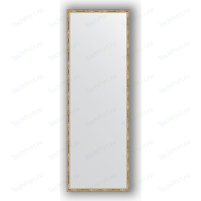 Зеркало в багетной раме поворотное Evoform Definite 47x137 см, серебряный бамбук 24 мм (BY 0711)