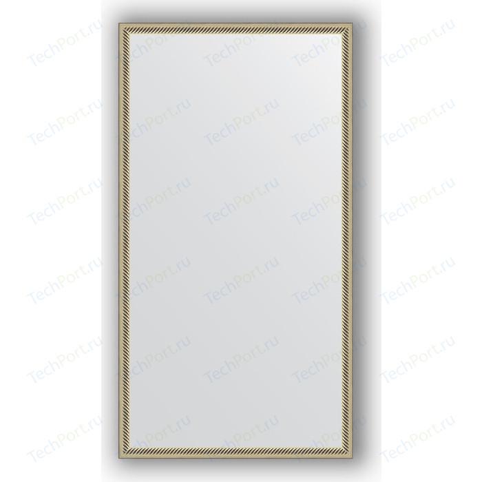 Зеркало в багетной раме поворотное Evoform Definite 58x108 см, витое серебро 28 мм (BY 0725)