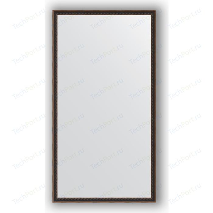 Зеркало в багетной раме поворотное Evoform Definite 58x108 см, витой махагон 28 мм (BY 0727)