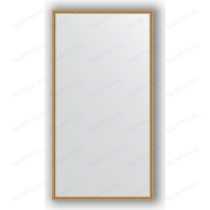 Фото - Зеркало в багетной раме поворотное Evoform Definite 68x128 см, витое золото 28 мм (BY 0743) зеркало в багетной раме поворотное evoform definite 68x128 см сосна 22 мм by 0738