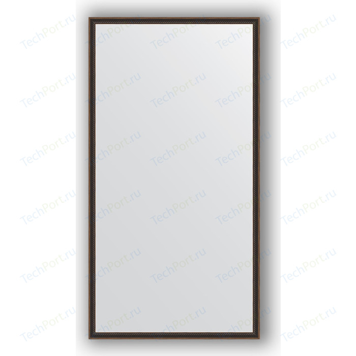 Зеркало в багетной раме поворотное Evoform Definite 68x128 см, витой махагон 28 мм (BY 0744)