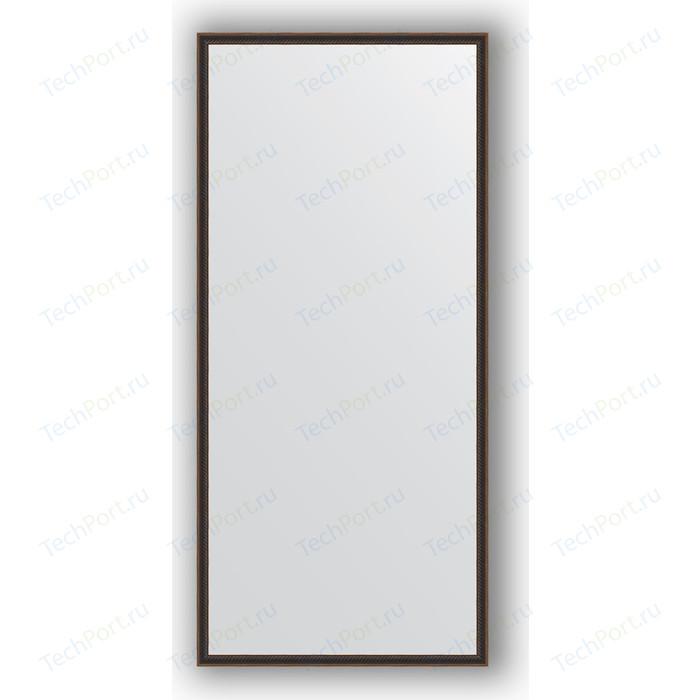 Зеркало в багетной раме поворотное Evoform Definite 68x148 см, витой махагон 28 мм (BY 0761)