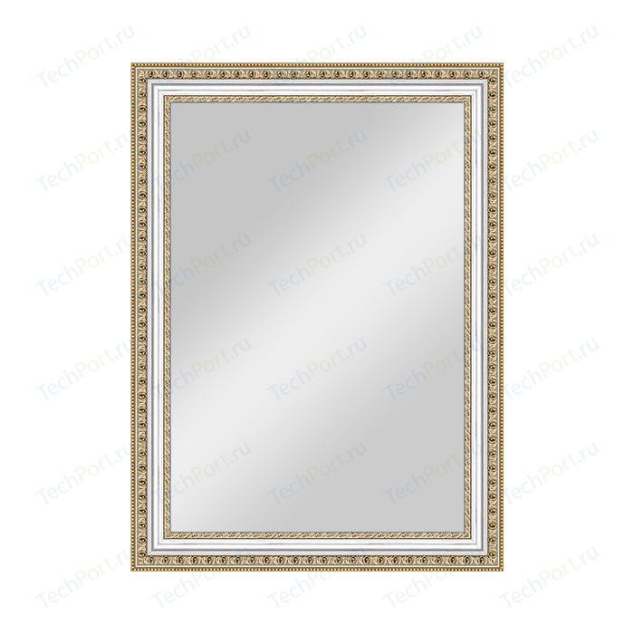 Зеркало в багетной раме поворотное Evoform Definite 55x75 см, золотые бусы на серебре 60 мм (BY 0797)