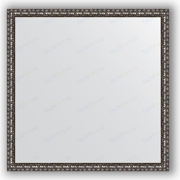 Зеркало в багетной раме Evoform Definite 70x70 см, черненое серебро 38 мм (BY 1018)