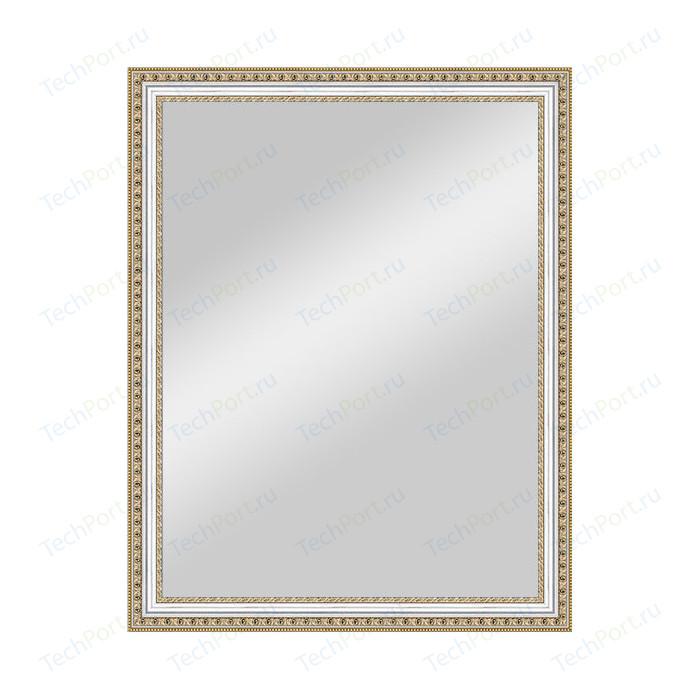 Зеркало в багетной раме поворотное Evoform Definite 75x95 см, золотые бусы на серебре 60 мм (BY 1042)