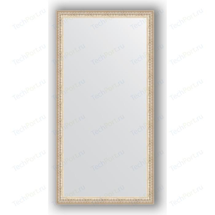 Фото - Зеркало в багетной раме поворотное Evoform Definite 51x101 см, мельхиор 41 мм (BY 1050) зеркало в багетной раме поворотное evoform definite 51x101 см волна алюминий 46 мм by 3070