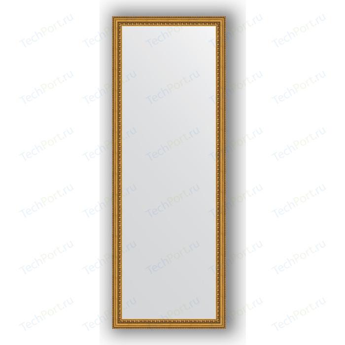 Зеркало в багетной раме поворотное Evoform Definite 52x142 см, бусы золотые 46 мм (BY 1067)
