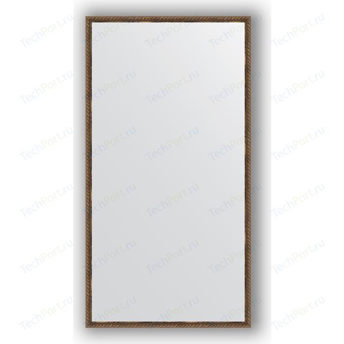 Фото - Зеркало в багетной раме поворотное Evoform Definite 68x128 см, витая бронза 26 мм (BY 1092) зеркало в багетной раме поворотное evoform definite 68x128 см сосна 22 мм by 0738