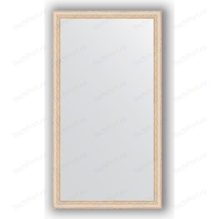 Зеркало в багетной раме поворотное Evoform Definite 74x134 см, беленый дуб 57 мм (BY 1101) зеркало 74х134 см беленый дуб evoform definite by 1101