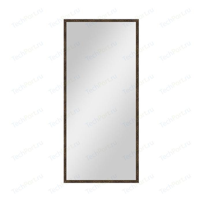 Зеркало в багетной раме поворотное Evoform Definite 68x148 см, витая бронза 26 мм (BY 1107) зеркало в багетной раме поворотное evoform definite 73x93 см слоновая кость 51 мм by 1040