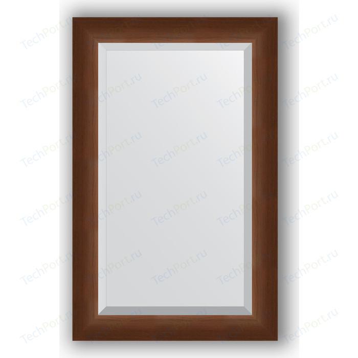 Зеркало с фацетом в багетной раме поворотное Evoform Exclusive 52x82 см, орех 65 мм (BY 1137)