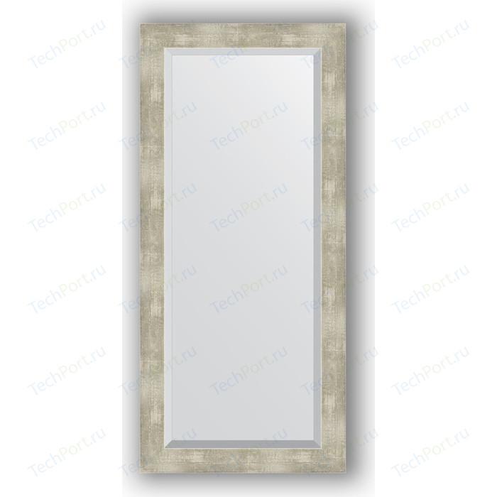 Зеркало с фацетом в багетной раме поворотное Evoform Exclusive 51x111 см, алюминий 61 мм (BY 1149) зеркало 51х111 см алюминий evoform exclusive by 1149