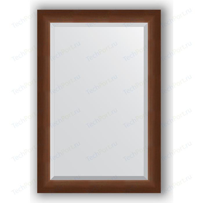 Зеркало с фацетом в багетной раме поворотное Evoform Exclusive 62x92 см, орех 65 мм (BY 1177)