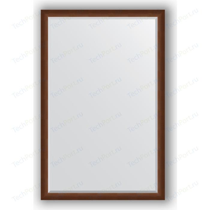 Зеркало с фацетом в багетной раме поворотное Evoform Exclusive 112x172 см, орех 65 мм (BY 1217)