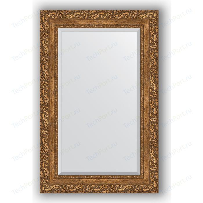 Зеркало с фацетом в багетной раме поворотное Evoform Exclusive 55x85 см, виньетка бронзовая 85 мм (BY 1240)