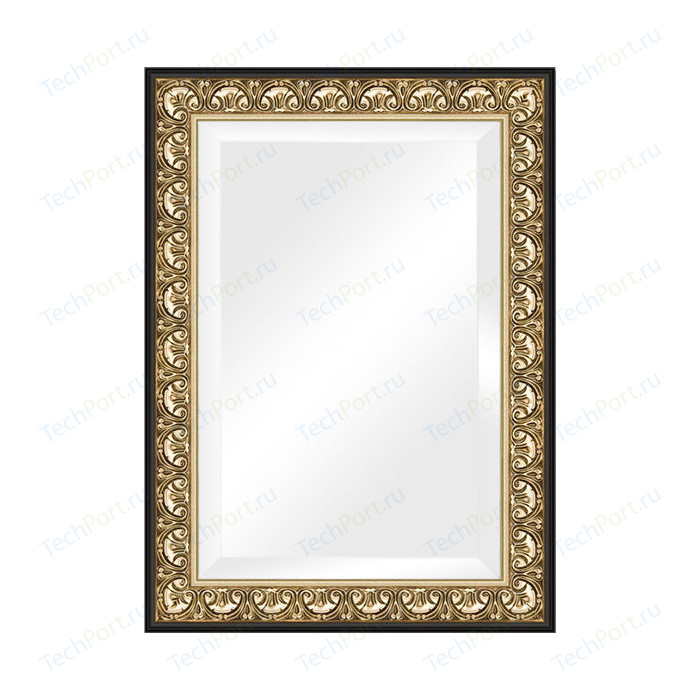 Зеркало с фацетом в багетной раме поворотное Evoform Exclusive 80x110 см, барокко золото 106 мм (BY 1301)