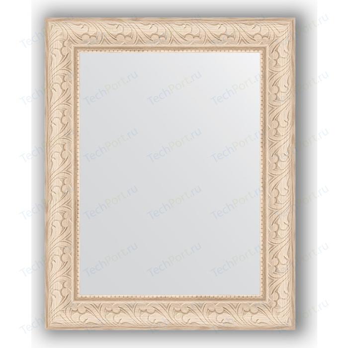 Зеркало в багетной раме Evoform Definite 40x50 см, беленый дуб 57 мм (BY 1348)