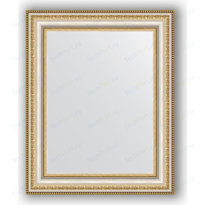 Зеркало в багетной раме Evoform Definite 41x51 см, золотые бусы на серебре 60 мм (BY 1349)