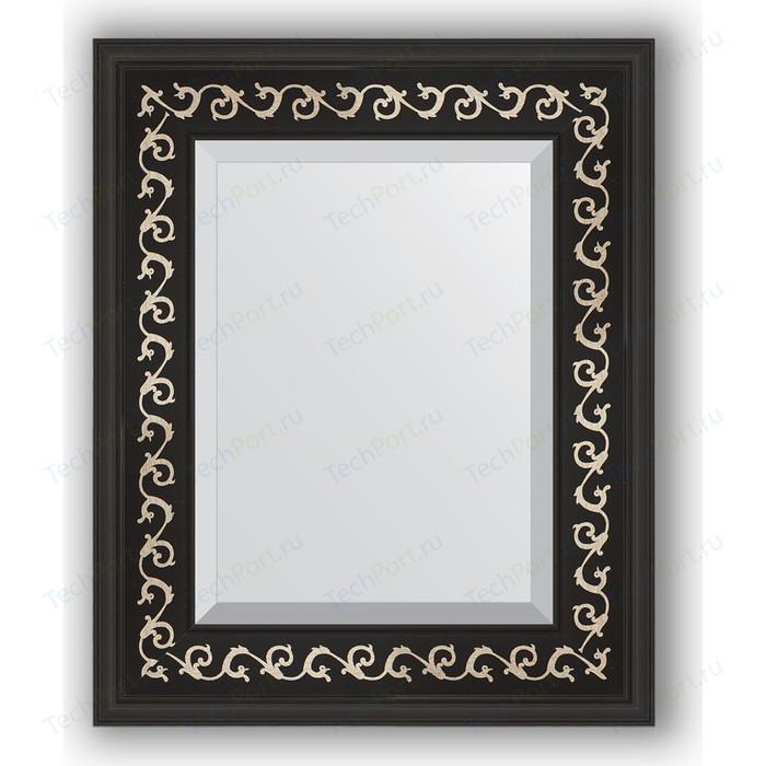Зеркало с фацетом в багетной раме Evoform Exclusive 45x55 см, черный ардеко 81 мм (BY 1357)