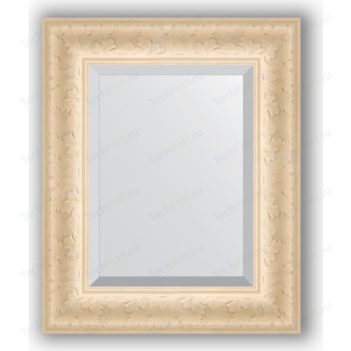 Зеркало с фацетом в багетной раме Evoform Exclusive 45x55 см, старый гипс 82 мм (BY 1364)
